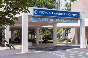 Alexandria Hospital visitor entrance