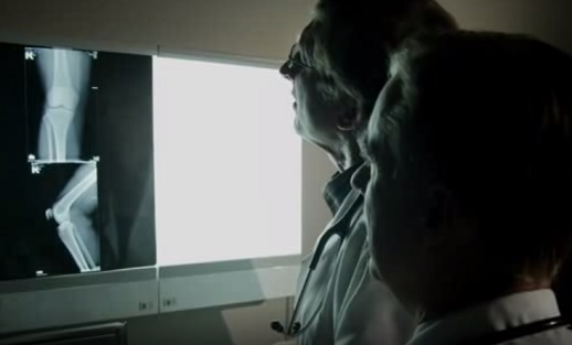 doctors looking at an x-ray