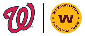Washington Nationals and Washington Football Team logos