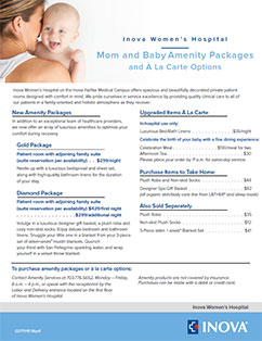 Mom and Baby Amenity Packages