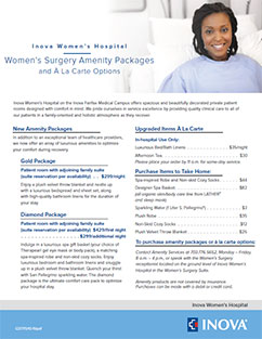 Women's Surgery Amenity Packages