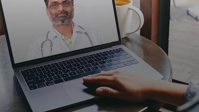 doctor on a laptop screen