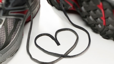 sports shoes and heart image