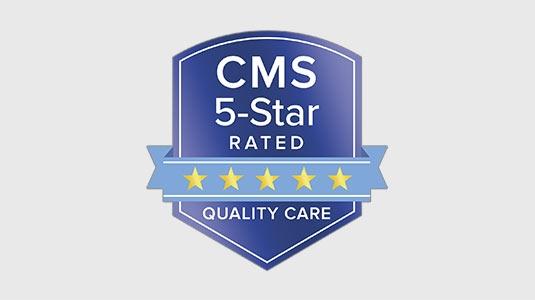 CMS five star badge