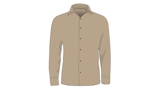 ENGINEERING Khaki Button-up