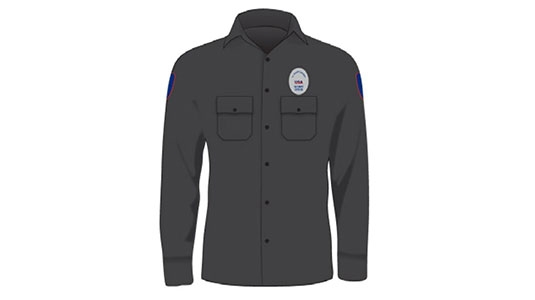 SECURITY Black Shirt with Patches