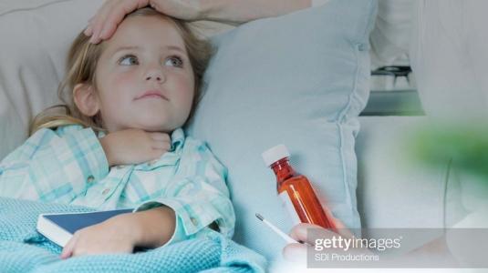 Sick child prescribed medicine