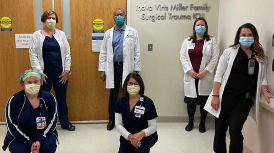 hospital staff in face masks