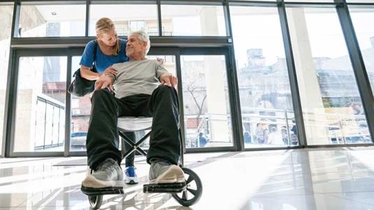 patient in wheelchair